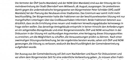 GV 28.08.2013 Gemeindeamt - Presseaussendung der ÖVP Oberndorf-001
