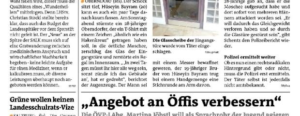 Moschee in Oberndorf gestürmt