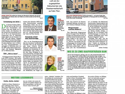 Bericht Salzburger Fenster Rathausbau Oberndorf v. 11.12.2013