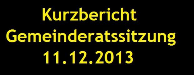 Gemeinderat 11.12.2013