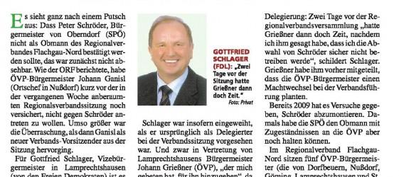 Salzburger Fenster 16.04.2014 - Putsch Regionalverband Flachgau-Nord