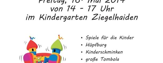 25 jahre kindergarten ziegelhaiden - sommerfest! | initiative, Einladung