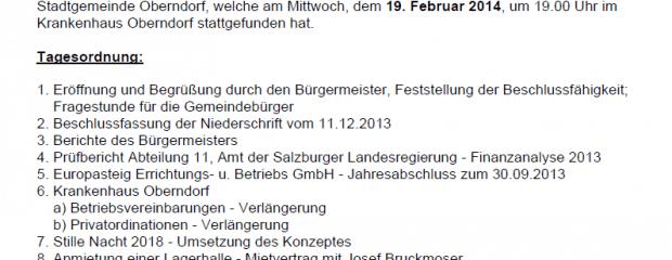Niederschrift Gemeindevertretung 19.02.2014