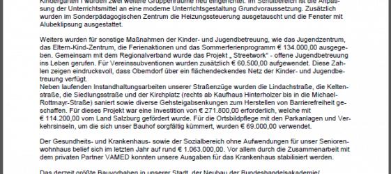 Jahresrechnung 2013 - Mitteilungsblatt Stadtgemeinde Oberndorf Seite 5