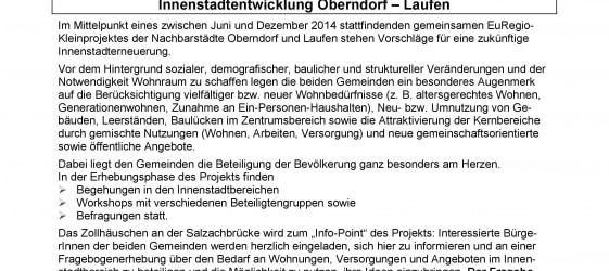 Fragebogen Innenstadtentwicklung Oberndorf und Laufen