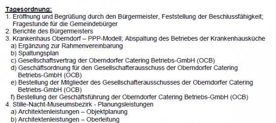 Niederschrift Gemeindevertretung Oberndorf 23.07.2014