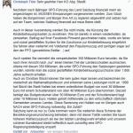 Posting an Walter Steidl SPÖ - 2014-10-10