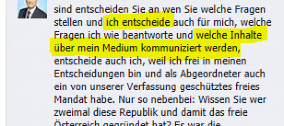 Walter Steidl SPÖ Zensur 3
