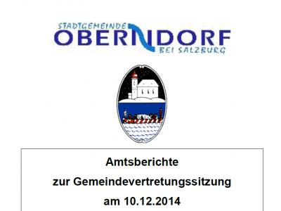 Amtsberichte GV-Sitzung am 10.12.2014