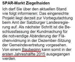Mitteilungsblatt Oktober 2014 - Stadtgemeinde Oberndorf - Spar Ziegelhaiden