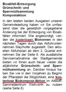 Alles kostenlos - Mitteilungsblatt März 2016