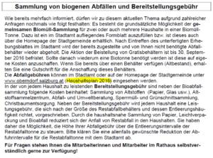 Mitteilungsblatt April 2016 - Biomüll